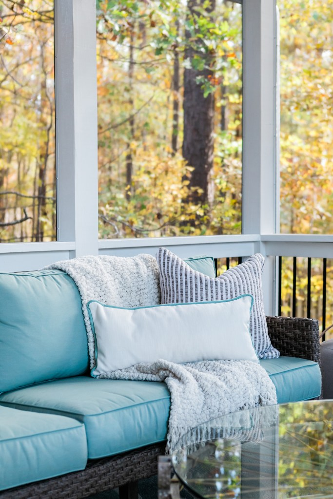 Cozy Screen Porch Furniture - By Cat French Design