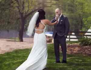 First Look, Portland Maine Wedding Photography