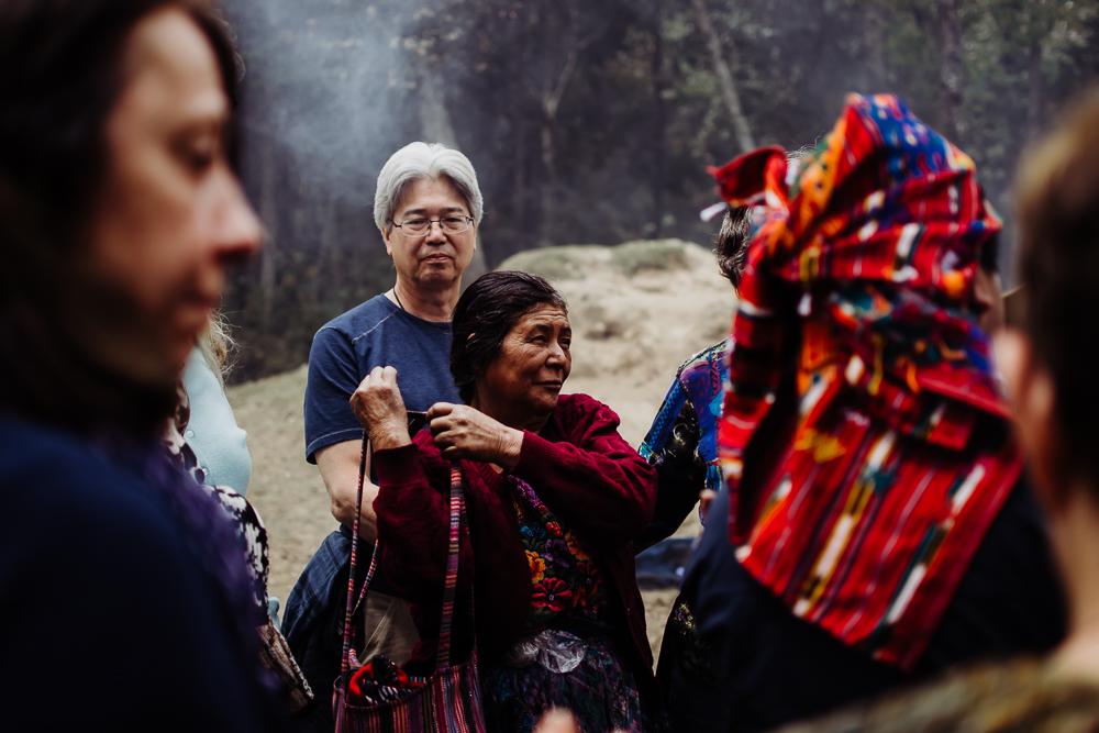 female mayan shaman during spiritual ceremony lake atitlan guatemala {virginia beach lifestyle newborn child couples family maternity engagement photographer}