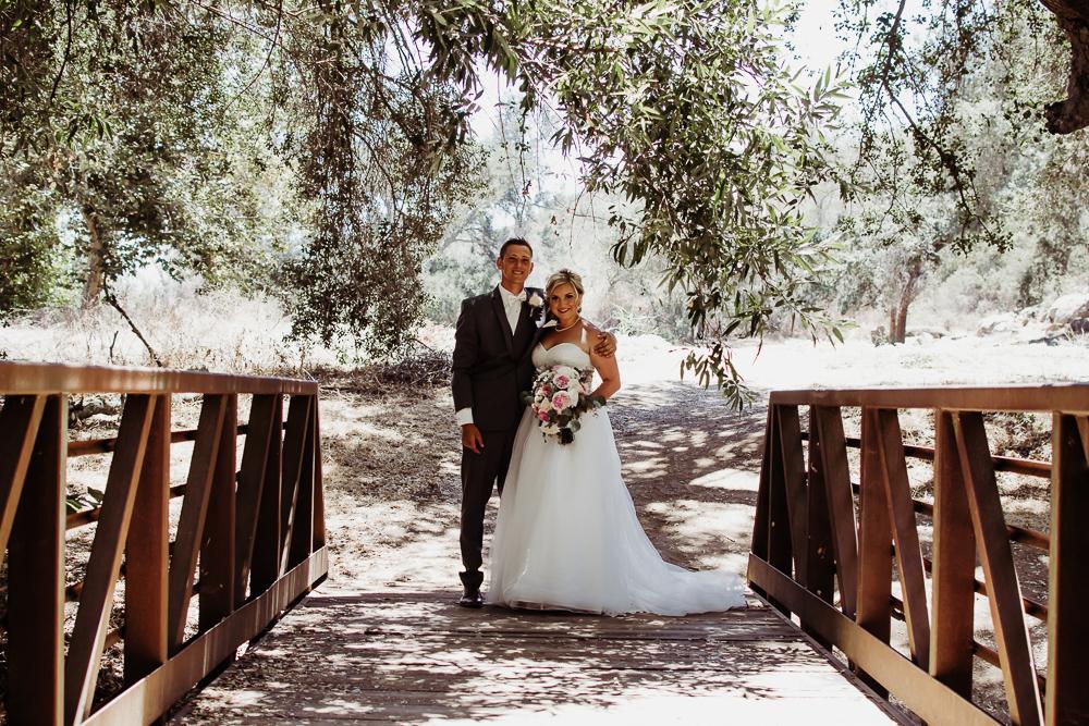 beautiful bride groom standing on bridge {virginia beach wedding couples family newborn photographer}