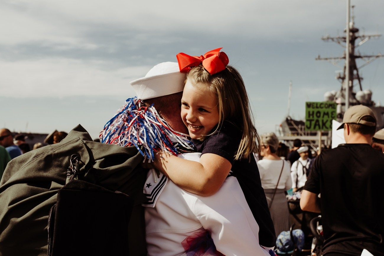 military homecoming father daughter {virginia beach photographer}