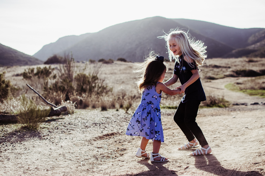 sisters dancing in mission trails san diego {virginia beach chesapeake lifestyle child couples family military homecoming photographer holistic healer transformational mentor}