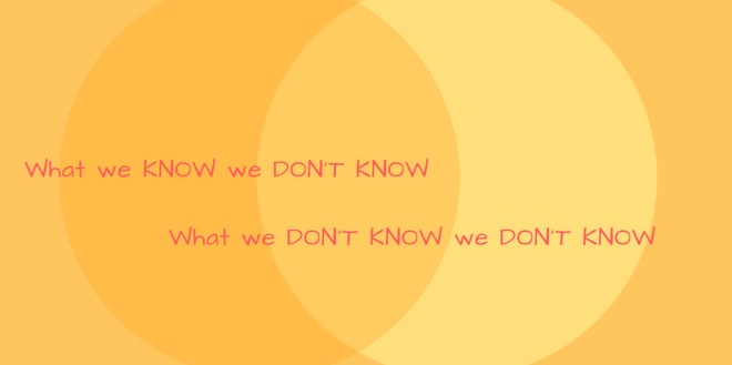 what we dont know versus what we know we dont know_