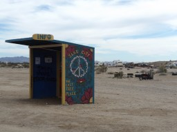 Info Booth Entrance to Slab City