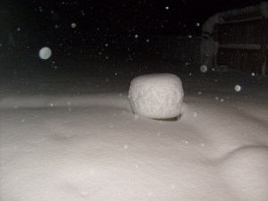 Picture of snow piling up
