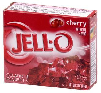 Cherry Jello box