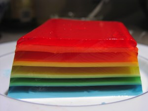 Rainbow Layered Jello