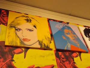 Debbie Harry and Aretha Franklin in Andy Warhol Exhibit