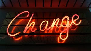 Neon Sign That Says Change