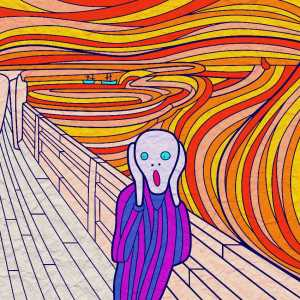 Edvard Munch The Scream done as Coloring Book