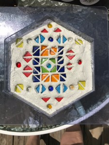 Mosaic stepping stone