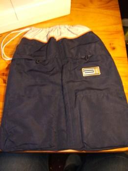 Old coat kit bag