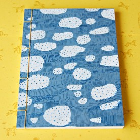 Hand Stitched Notebook - Cloud