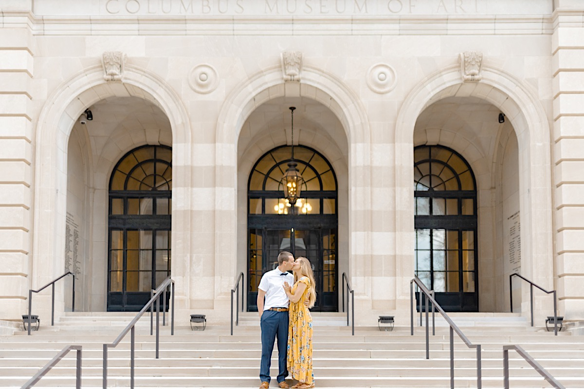 Springtime Columbus Museum of Art Engagement Session | Catherine Milliron Photography | Columbus Ohio and Destination Wedding and Engagement Photographer