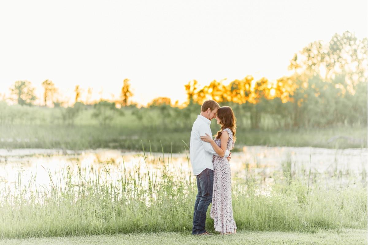 Prairie Oaks Metropark Summertime Sunset Engagement | Catherine Milliron Photography | Ohio and Destination Fine Art Wedding Photographer