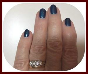 Blue nails for Jamaica