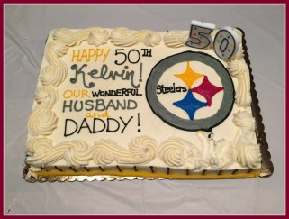 Cake to show his Steelers support