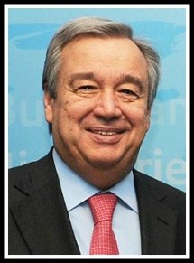 Antonio Guterres, newly appointed UN Secretary General
