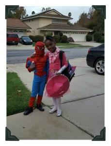 Grandchildren Teya and Bruche on Halloween