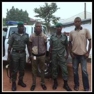 These guys were our security detail last year for the holidays in Nigeria, at least the village part.