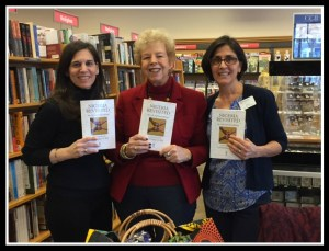 Aline, left, me, Nancy, right, at Fairfield University Bookstore Author Event