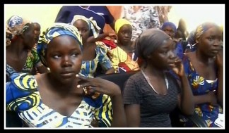 A few of the Chibok girls released several months ago, from CNN
