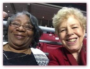 I took a Selfie with Elouise, the other Grandma as our granddaughter graduates