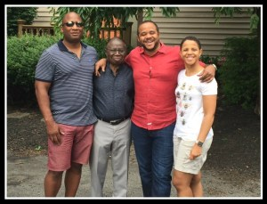 In Philadelphia with son-in-law Kelvin, husband Clem, son Sam, and daughter Beth