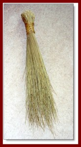 A broom like this was presented by my husband's parents to us to signify their approval of our marriage and to remind us to sweep away bad thoughts!