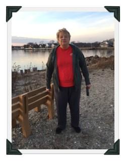 Beth at Westport's Compo Beach on Sunday