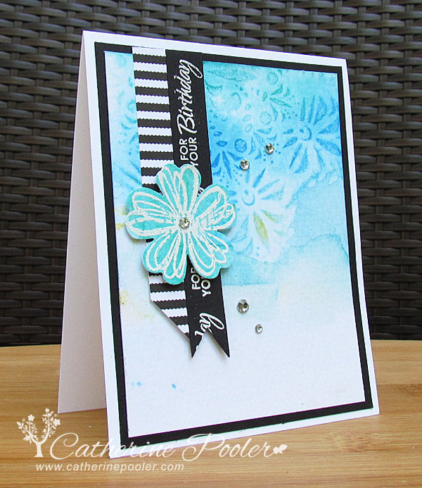 Distress Ink Water And Embossing Card Making Video