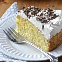 Pastel de tres leches (gâteau aux trois laits)