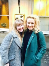 It's Charlotte Vaughan. Actual dream meeting this amazing lady. She said we looked lovely - what a kind comment! Thank you for your time!