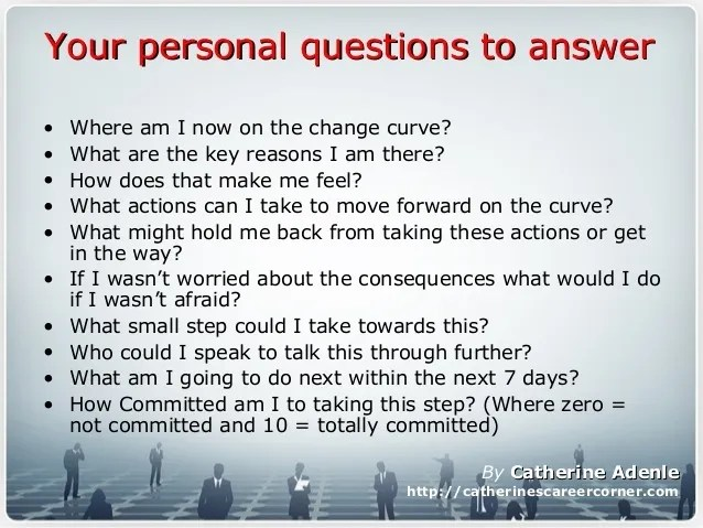 How to Cope with Change at Work_Questions to ask yourself