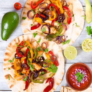 home delivered menu chicken fajitas