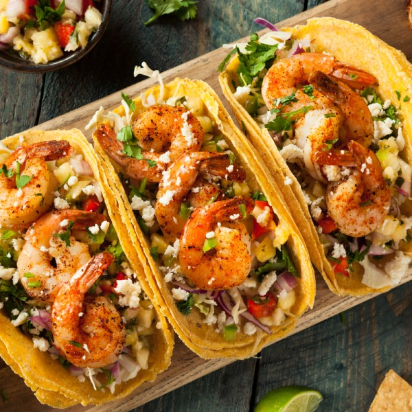 home delivered menu shrimp tacos