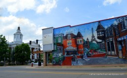 The Logan County Courthouse stands to the left of this Eiffel Tower Mural in Paris, Arkansas. Travelers pass through town on their way to Mount Magazine State Park to the south. I hope some stop to enjoy this Parisian view.