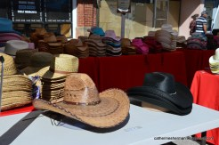 There were plenty of cowboy hats for sale.