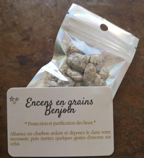 encens grains benjoin