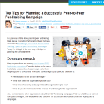 http://npengage.com/nonprofit-fundraising/top-tips-for-planning-a-successful-peer-to-peer-fundraising-campaign/