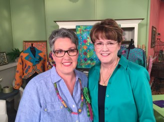 Susan Brubaker Knapp and I on the set.