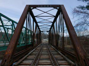Railroad tracks marking a path forward
