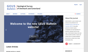 GEUS Bulletin website launch front page