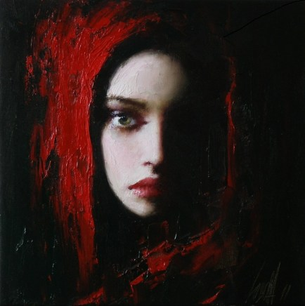 Lady in Red -  Taras Loboda 1961 - Ukrainian Portrait painter - Tutt'Art@ (40)