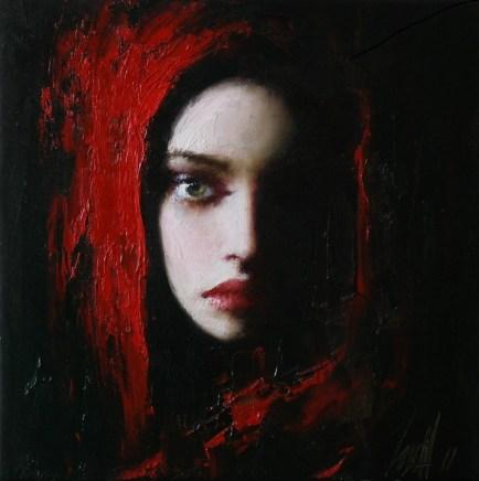 Lady in Red -  Taras Loboda 1961 - Ukrainian Portrait painter - Tutt'Art@ (40)