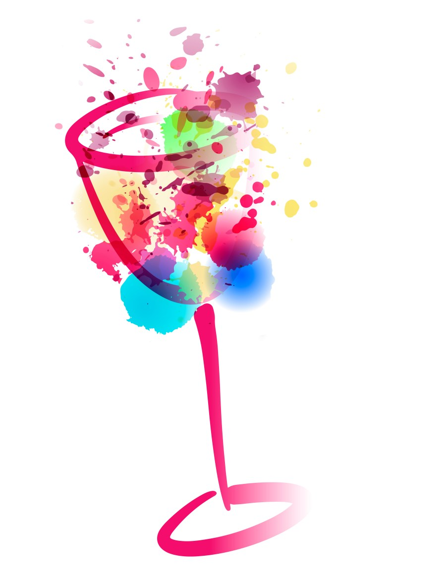 Idea,For,Painting,And,Wine,Event,Promotion.,Illustration,Of,Wine