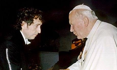 Bob Dylan and Saint John Paul II