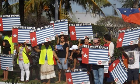 West Papua independence movement protest campaign in Samoa