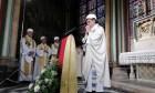 Hard-hats de rigueur at Notre Dame