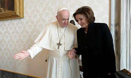 Pelosi meeting Pope